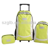 600D Blue Stripe Carry On 3pcs