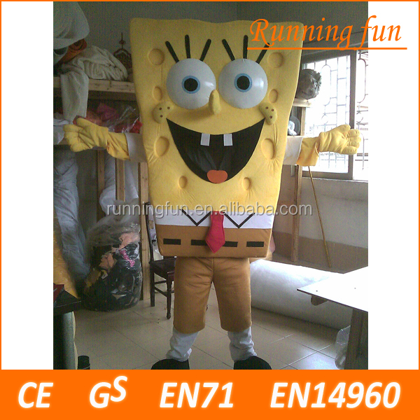 SpongeBob mascot costume,used mascot costumes for adults