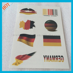 Germany summer temporary olympic tattoo sticker