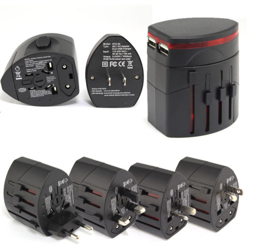 Hot Selling UK US AU EU Plug World International Universal Travel AC Adapter, Power Outlet Travel Adapter