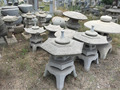 octagon granite Japanese garden stone lantern for decorative