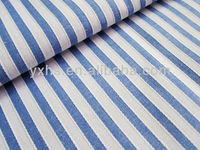 Popular 100% Cotton Yarn Dyed Jacquard Light Blue and White Stripe Fabric