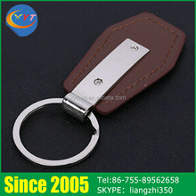Manufacturers Cheap Custom Mini Fashion Handmade Car Metal Leather Keychain in China