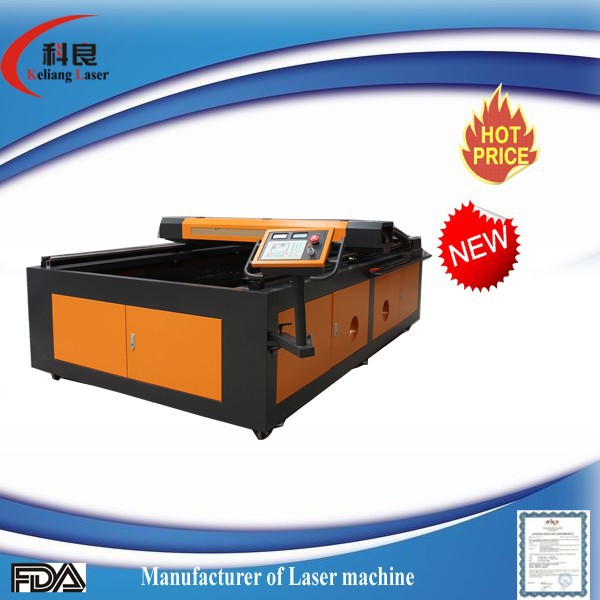 KL-1325 150W laser engraving and cutting machine for wool felt and fabric 1300*2500mm