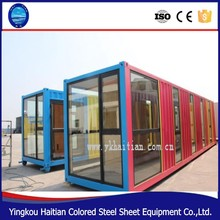 20ft or 40ft camping prefab house shipping container mobile house with bathroom price from China