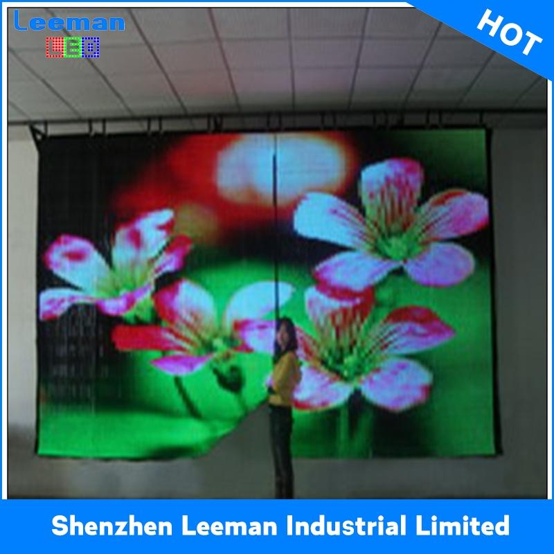 led soft curtain display newest p10 indoor transparent glass led display screen led video screen for showcase