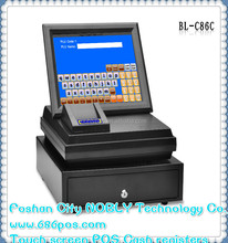 Plug and play All In One business device/payment machine/POS hardware/bill machine with Printer, display, Cash box, Software