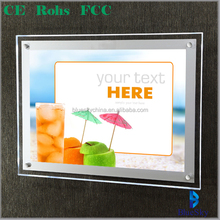 A4.A3.A2.A1 ultra thin LED slim acrylic advertising display light box,led backlight frame acrylic