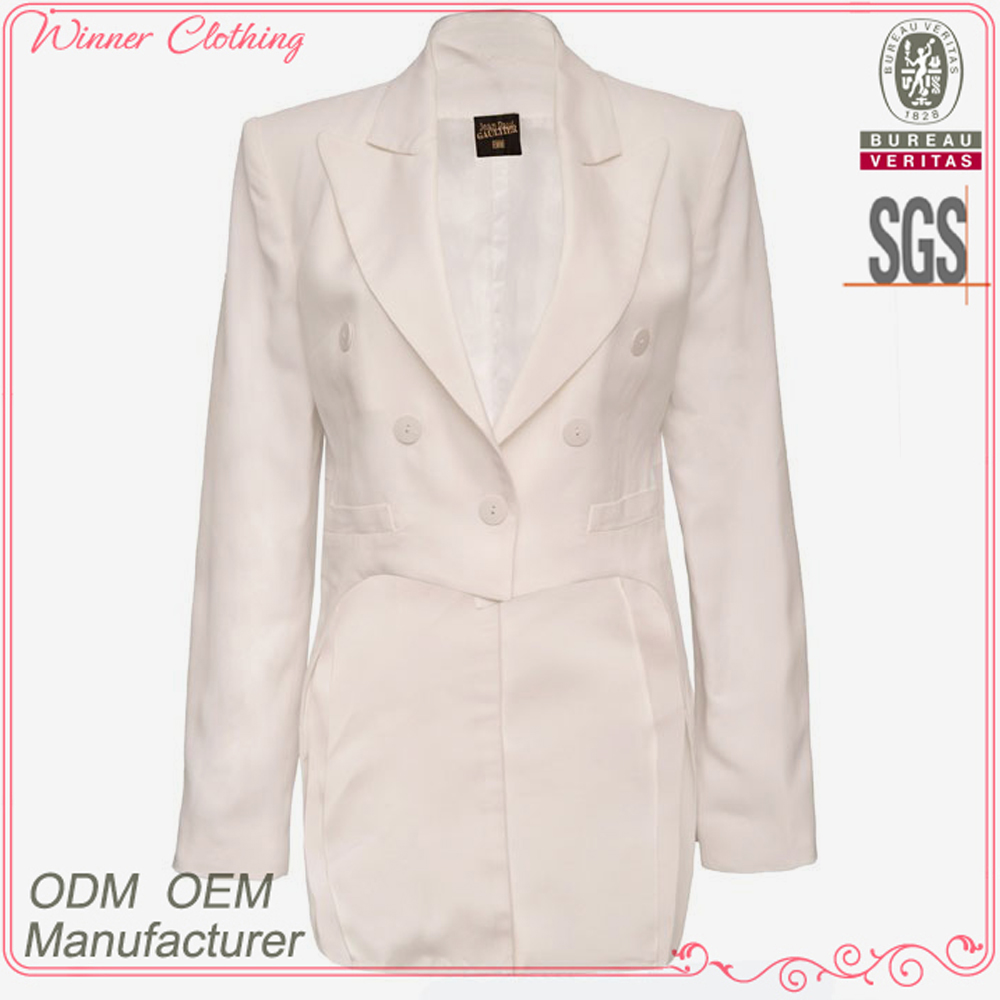 cotton/polyester slim fit solid color latest design of ladies suits