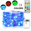 RGB 13 colors 3AA battery operated copper wire LED fairy lights home party holiday wedding decoration lights
