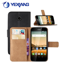 business style plain leather case for huawei union y538 flip cover