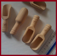 Mini Sugar Bath Salt Wooden Scoop with engraved logo