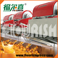 Hot sale industrial concentrated orange clear juice extracting machinery