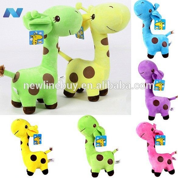 "New Hot Super Cute Giraffe <strong>Plush</strong> Doll Stuffed Toy 18/7.2"" Gift Doll With Suction"