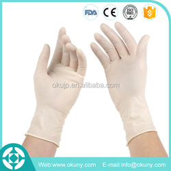 Good quality examination medical disposable gloves latex