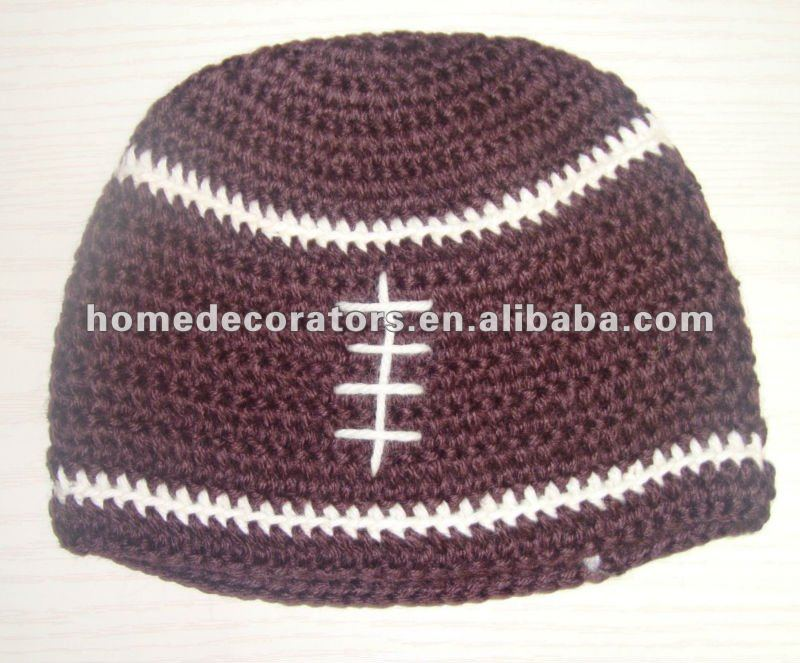 Infant Toddler Beanie babyFootball Hat Cap Crochet Handmade Kid hat