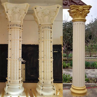 Plastic concrete roman pillars column molds for sale Diameter 25-40cm
