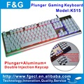 Aluminum Topcase plunger gaming keyboard with double shot mechanical keycap