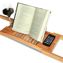 Bamboo Expandable and Adjustable book stand stand for phone book reading stand