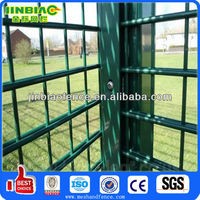 PVC coated metal fencing with double wire