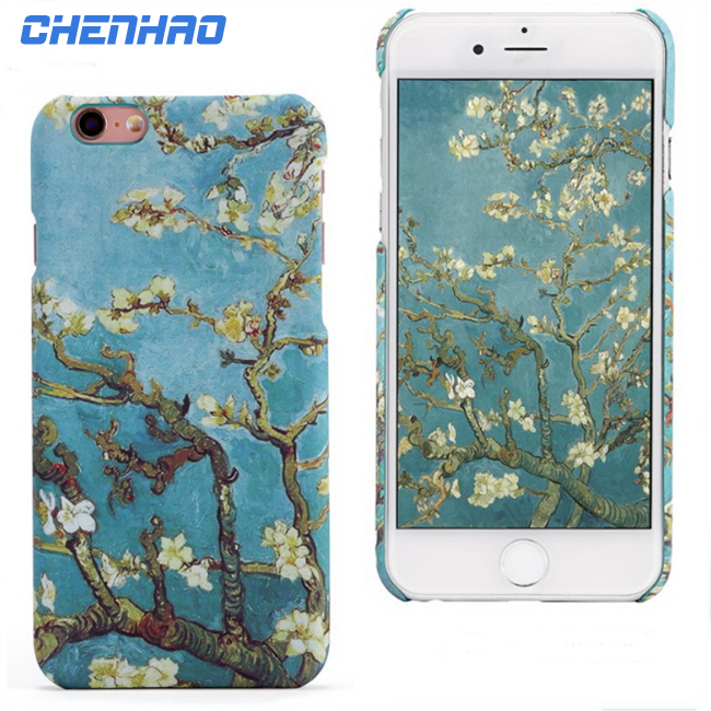 Back stars embossed painting phone case cover for Iphone5 6, 7 , plus
