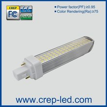 dimmable smd3014 7w led pl light g24/e27/e26 with triac dimmer,13w cfl replacement