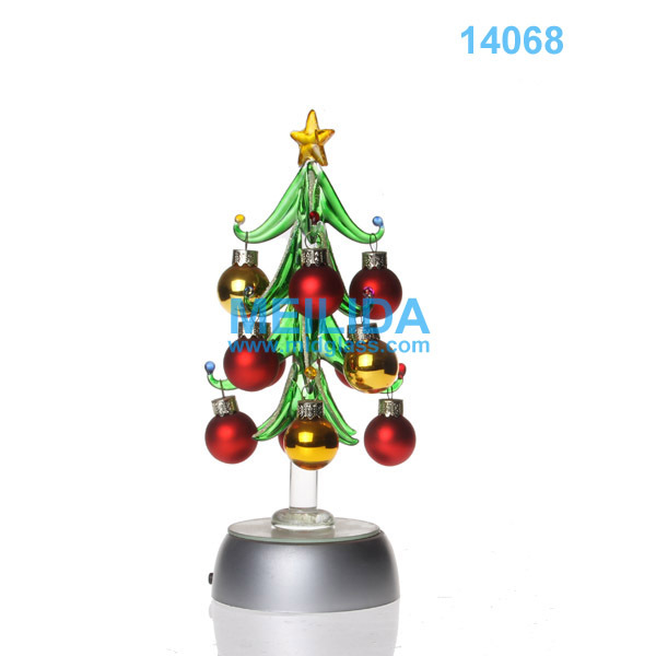 Glass christmas trees with crystal ornaments buy