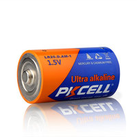 Top Selling PKCELL AM1 Zinc Manganese D Size lr20 Alkaline Battery 1.5v Dry Cell Battery