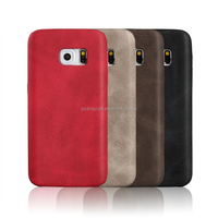 wholesale PU mobile phone back cover for samsung galaxy s6 edge leather case