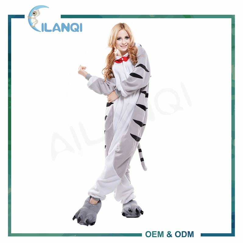 ALQ-A026 Winter oneise animal cute pajama adult overalls for sale