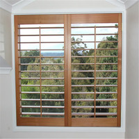 adjustable Australia indoor wood basswood plantation window shutter