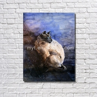 Lovely pet cat hand made pet canvas art for bedroom decorating nice home decor easy pictures to paint