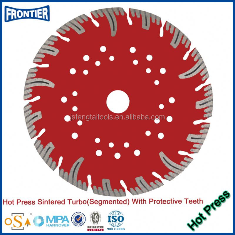professional manufacture of 114*20*7 mm hot pressed diamond saw blade for granite , marble , ceramic tiles etc .