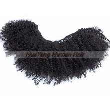Natural Hair Extensions Cheap Mongolian Afro Kinky Human Hair weave 8A kinky curly hair
