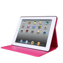 New Premium PU leather flip cover for ipad tablet case with stand function