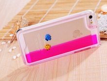 Wholesale Sale Dynamic Colorful Liquid Fish Swimming PC Hard Phone Cases 4 Colors Phone Cases For iPhone 5S 5G protector in sto