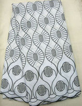 Wholesale Nigerian 100% Cotton Polish Embroidery Swiss Voile Net Lace Fabric In SwitzerlandJ569-5