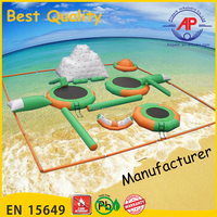 Guangzhou Airpark Kids Inflatable Aqua Park, Water Park Equipment With Trampoline And Slide