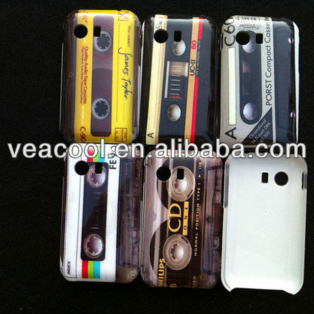 Cassette Tape Plastic Hard Back Phone Case Cover Skin For Samsung Galaxy Y S5360 Case