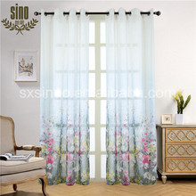 Best sales high quality print voile drapery flower curtain