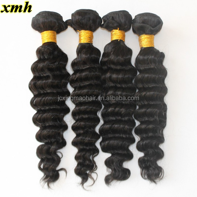 Malaysian Deep Wave Malaysian Curly Virgin Hair 9A Virgin Human Hair Bundles 8