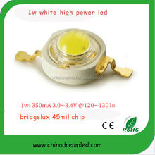 white 1w high power smd led in 120-130lm