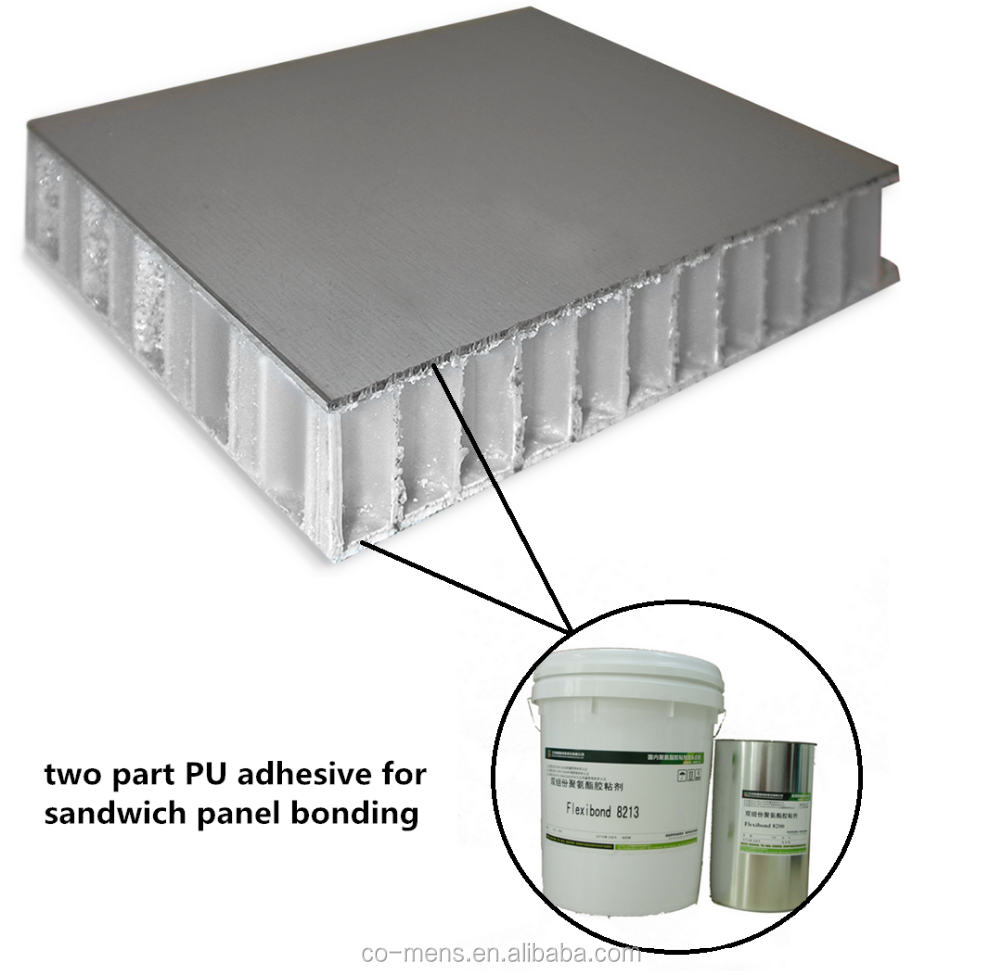 Double component polyurethane adhesive/glue for aluminum honeycomb core/PU foam