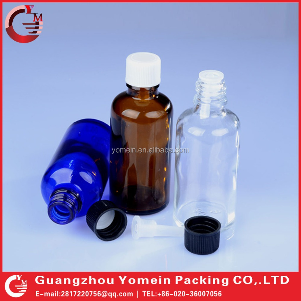 China Factory Glass Bottle 30ml 50ml 100ml Pharmaceutical Glass Bottle with Screw Cap