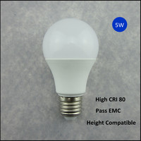 A60 housing parts manufactur dimmable 5w e27 led bulb lighting
