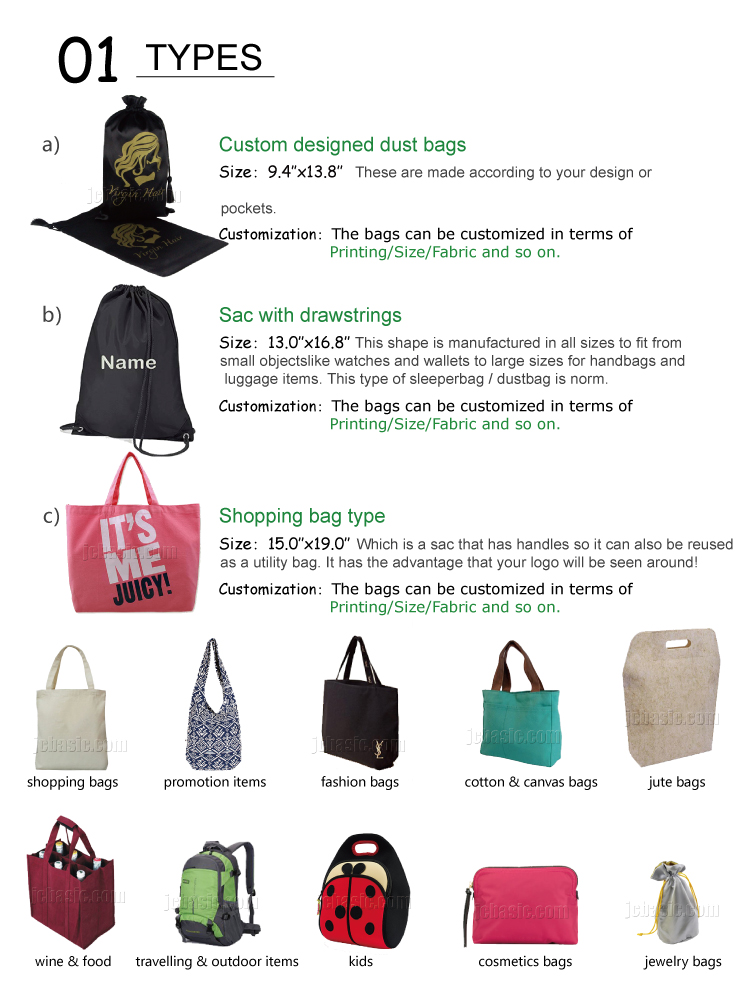 Best Selling Shopping Bag with your logo drawstring Cotton Canvas Bag