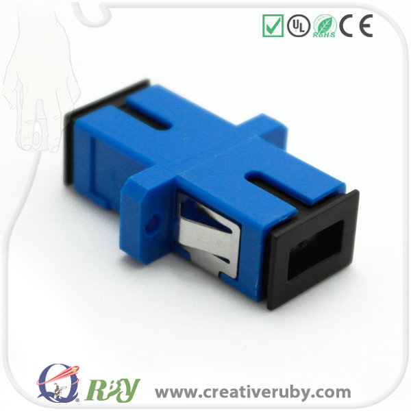 Made In China Telecom Projects SC to SC Fiber Optic Adapter with Mating Sleeve