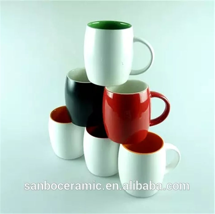 Cheap Stocklot Ceramic Porcelain Colorful Tea Mug Cups With Handle
