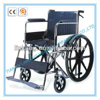 Manual wheelchair -fixed armrest and footrest