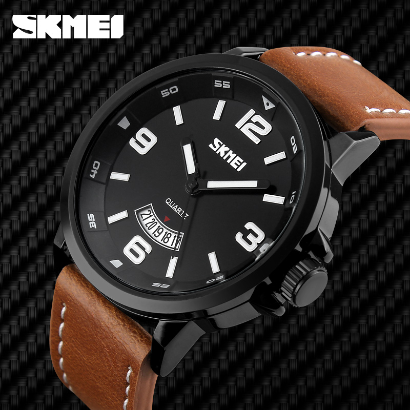 custom watch manufacturer vintage leather watch timepieces for men